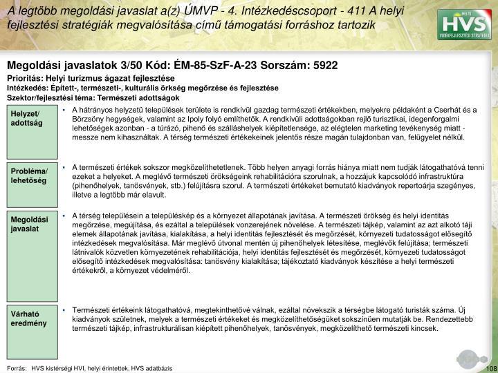 Megoldási javaslatok 3/50 Kód: ÉM-85-SzF-A-23 Sorszám: 5922