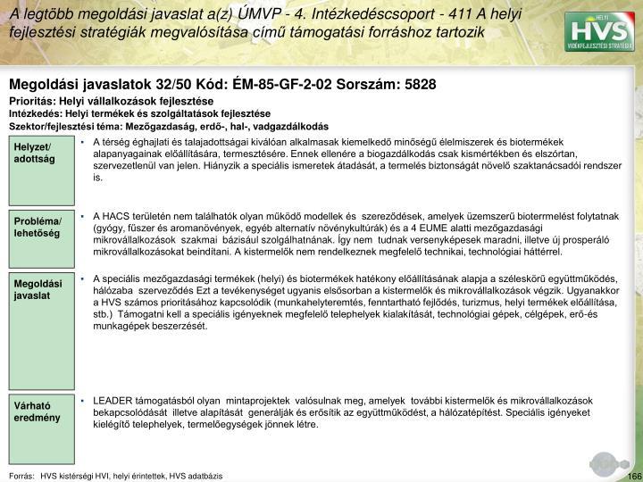 Megoldási javaslatok 32/50 Kód: ÉM-85-GF-2-02 Sorszám: 5828