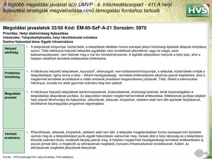 Megoldási javaslatok 33/50 Kód: ÉM-85-SzF-A-21 Sorszám: 5970