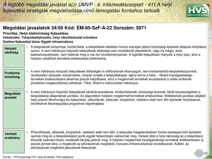 Megoldási javaslatok 34/50 Kód: ÉM-85-SzF-A-22 Sorszám: 5971