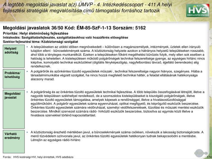 Megoldási javaslatok 36/50 Kód: ÉM-85-SzF-1-13 Sorszám: 5162