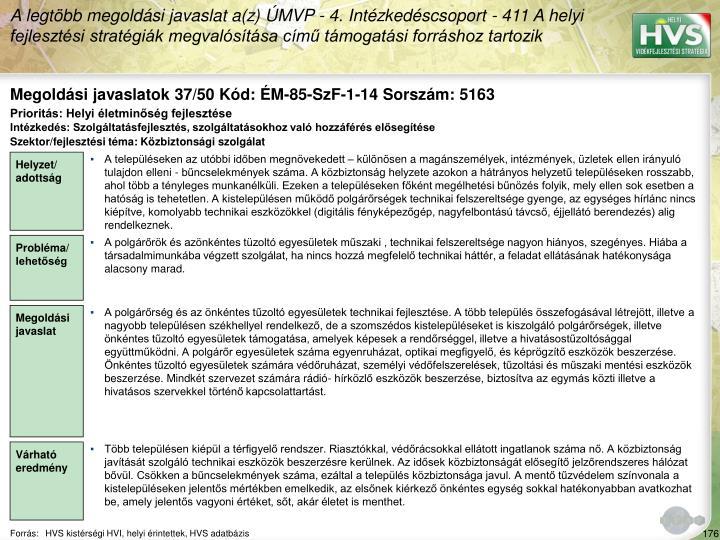 Megoldási javaslatok 37/50 Kód: ÉM-85-SzF-1-14 Sorszám: 5163