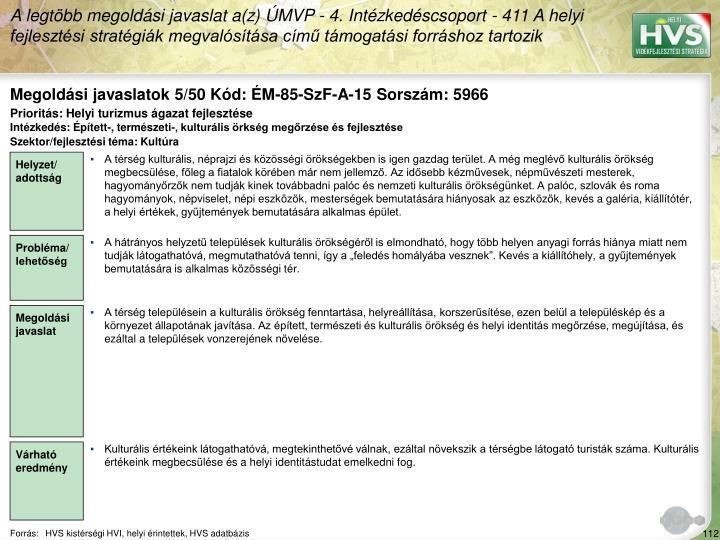 Megoldási javaslatok 5/50 Kód: ÉM-85-SzF-A-15 Sorszám: 5966