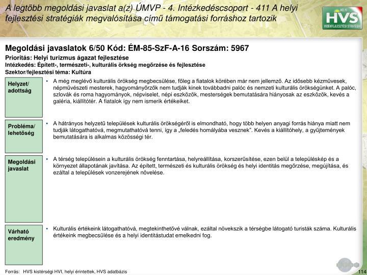 Megoldási javaslatok 6/50 Kód: ÉM-85-SzF-A-16 Sorszám: 5967