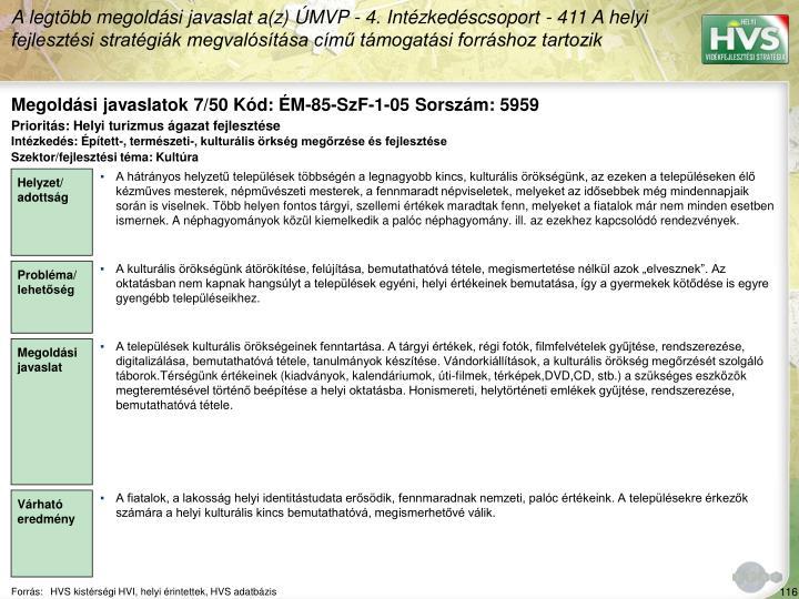 Megoldási javaslatok 7/50 Kód: ÉM-85-SzF-1-05 Sorszám: 5959