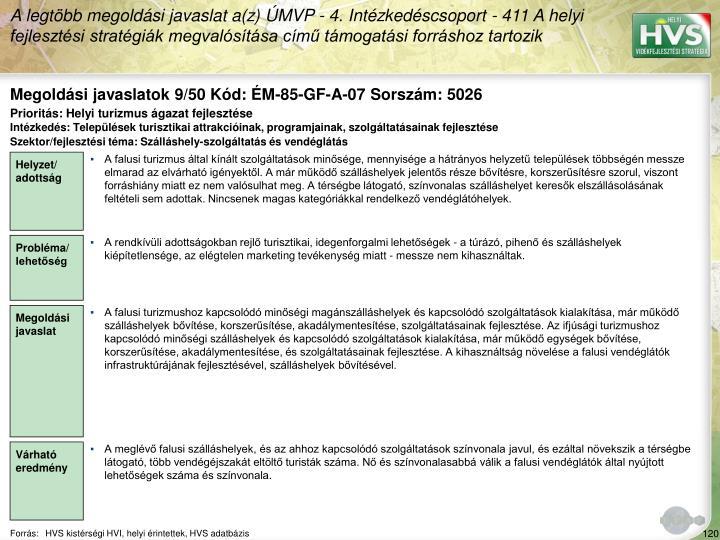 Megoldási javaslatok 9/50 Kód: ÉM-85-GF-A-07 Sorszám: 5026