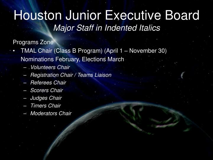 Houston Junior Executive Board