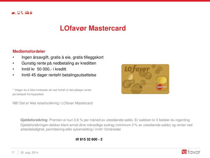 LOfavør Mastercard