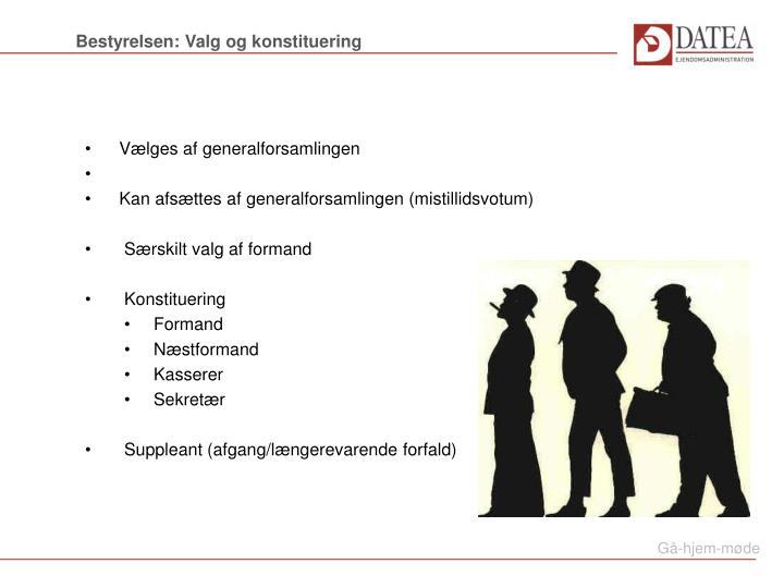 Bestyrelsen: Valg og konstituering