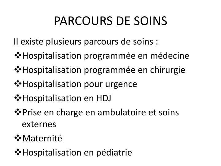 PARCOURS DE SOINS