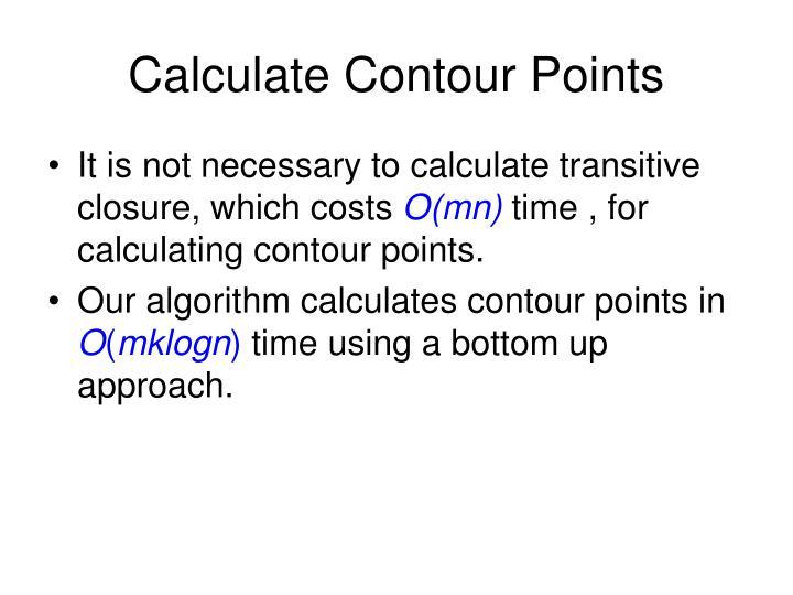 Calculate Contour Points