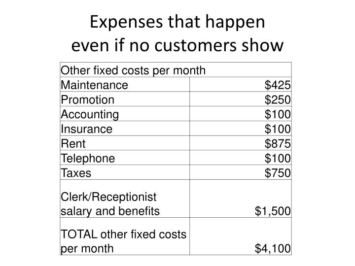 Expenses that happen