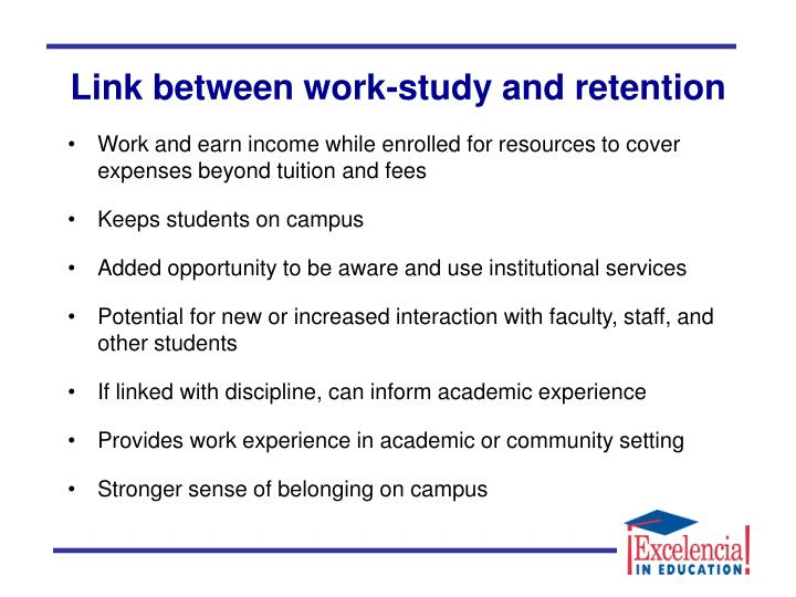 Link between work-study and retention