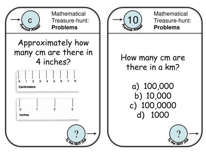 Mathematical Treasure-hunt: