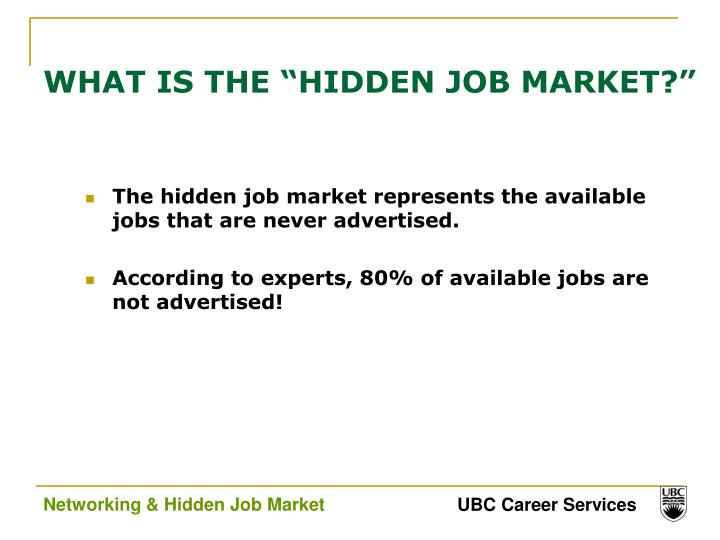 "WHAT IS THE ""HIDDEN JOB MARKET?"""