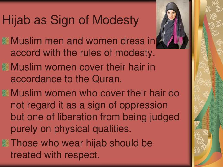 Hijab as Sign of Modesty