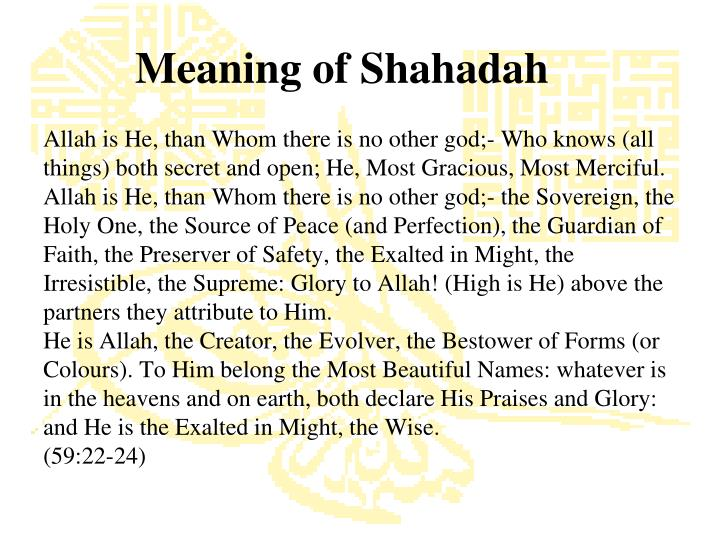 Meaning of Shahadah