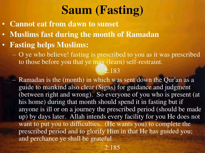 Saum (Fasting)