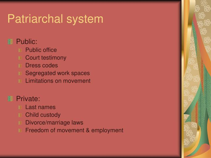 Patriarchal system