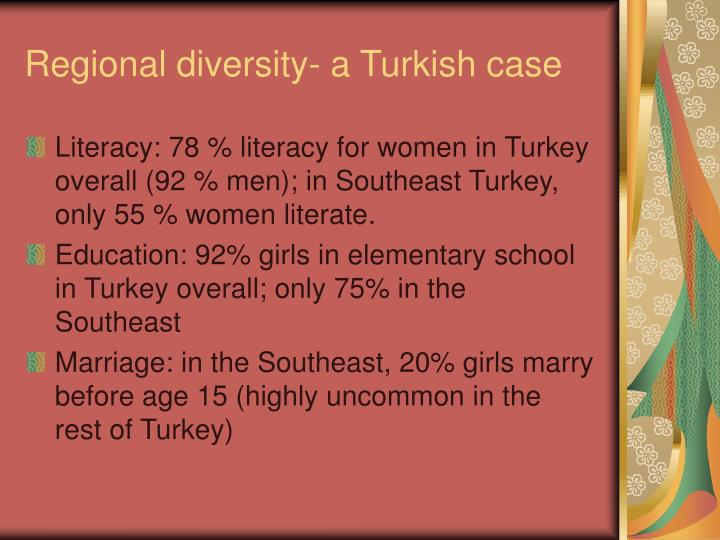 Regional diversity- a Turkish case