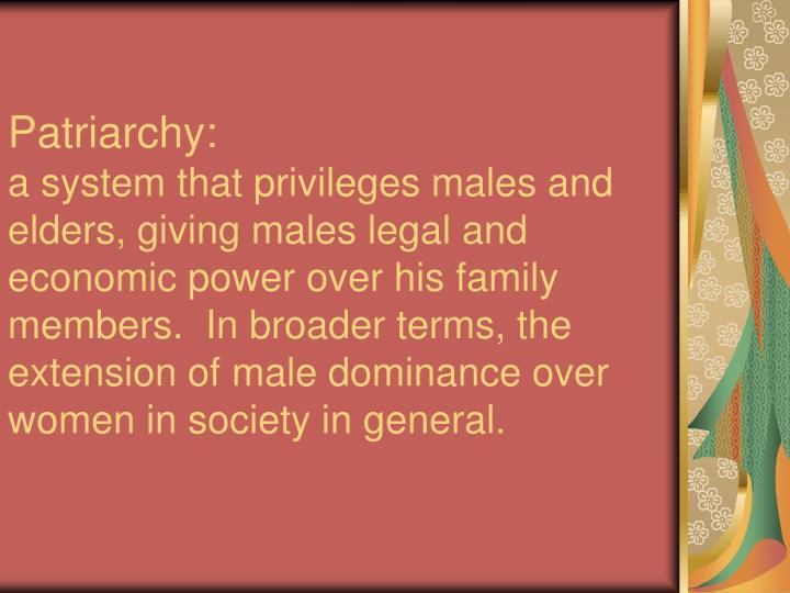 Patriarchy:
