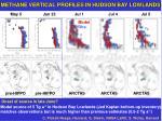methane vertical profiles in hudson bay lowlands