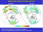 modis fire counts during arctas