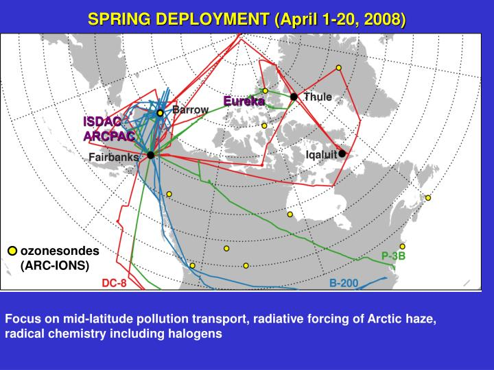SPRING DEPLOYMENT (April 1-20, 2008)