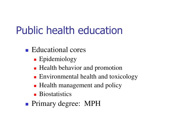 Public health education