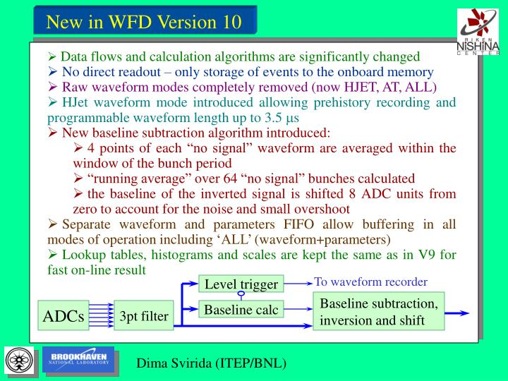 New in WFD Version 10