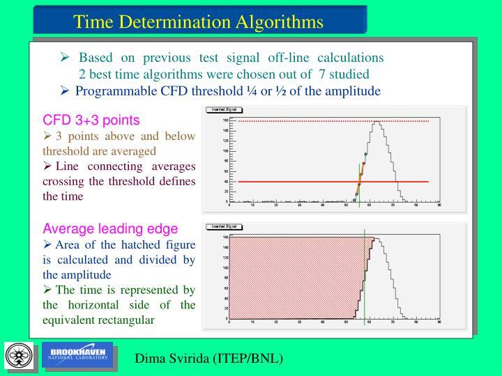 Time Determination Algorithms