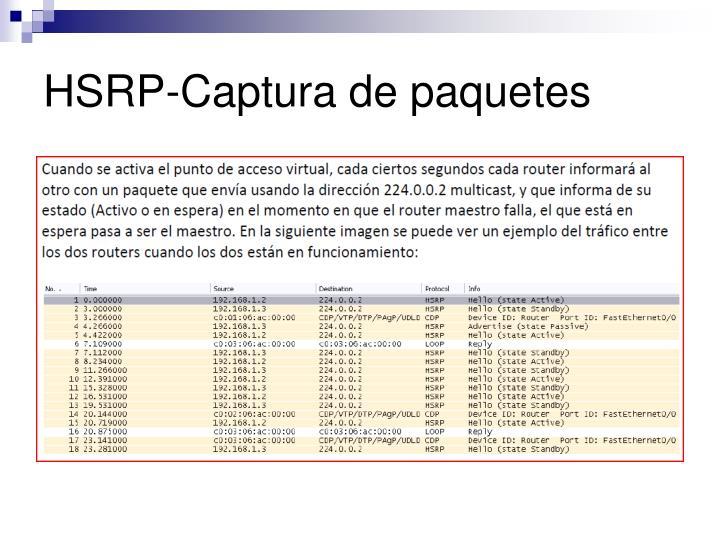 HSRP-Captura de paquetes
