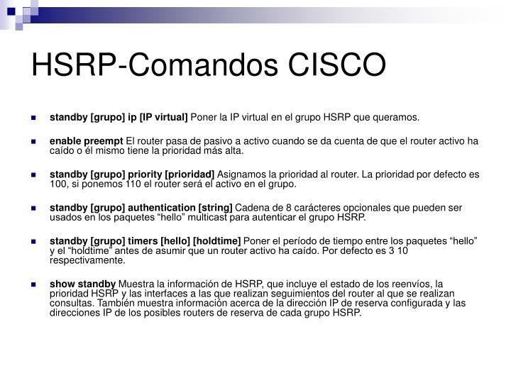 HSRP-Comandos CISCO