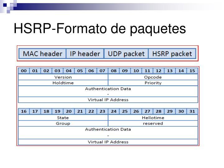 HSRP-Formato de paquetes