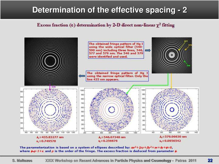 Determination of the effective spacing - 2