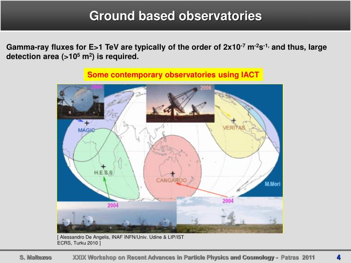 Ground based observatories