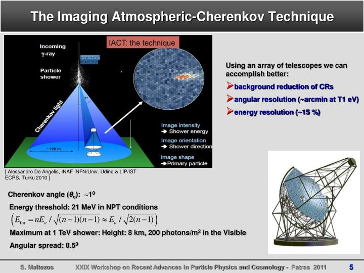 The Imaging Atmospheric-Cherenkov Technique