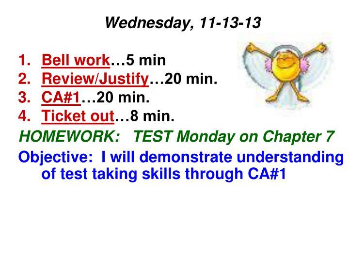 Wednesday, 11-13-13