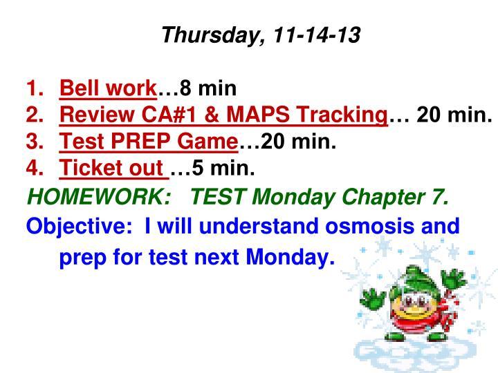 Thursday, 11-14-13