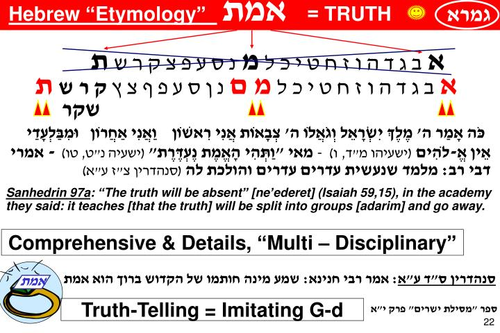 "Hebrew ""Etymology"""