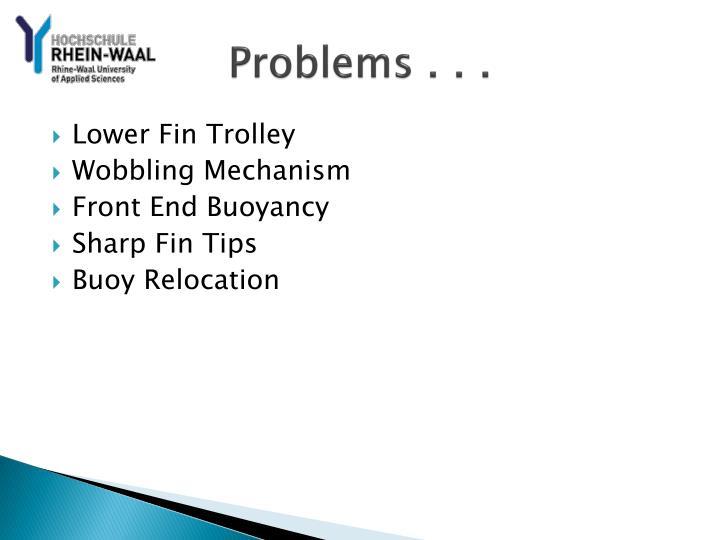 Problems . . .