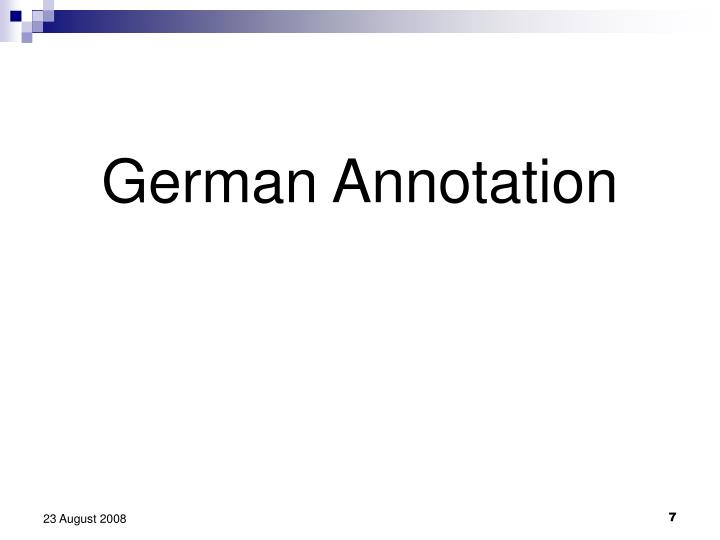 German Annotation