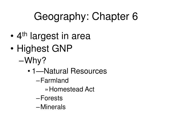 geography chapter 6