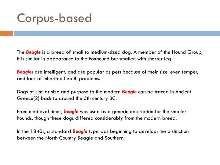Corpus-based