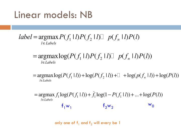 Linear models: NB