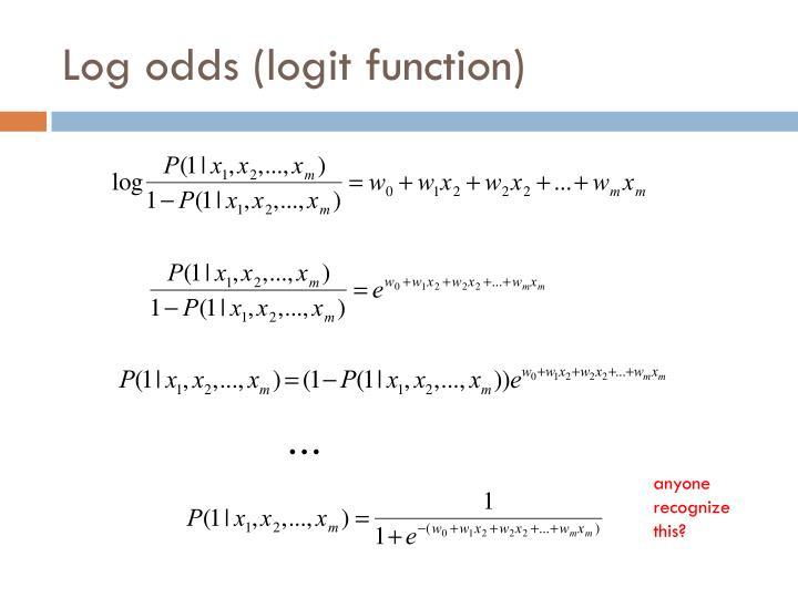 Log odds (