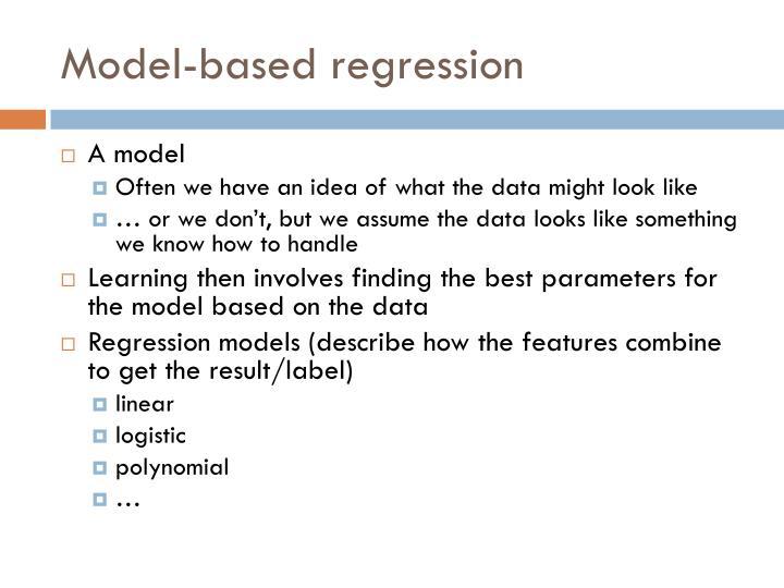 Model-based regression