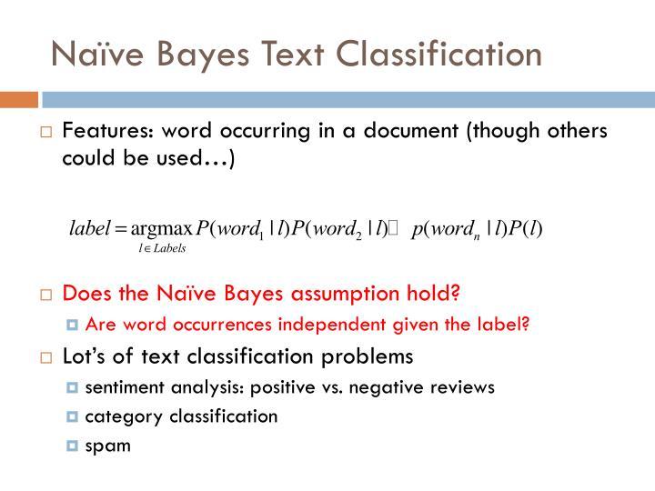 Naïve Bayes Text Classification