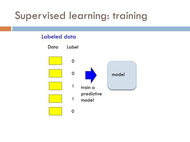 Supervised learning: training