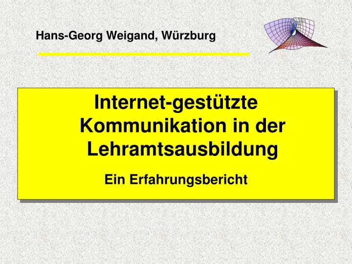 Hans-Georg Weigand, Würzburg
